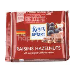 Ritter Sport Milk Chocolate Raisins & Hazelnuts