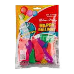 New Year Decoration Happy Balloon Neon Colour Size 6 Inches