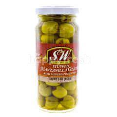 S&W Premium Stuffed Manzanilla Olives With Minced Pimientos