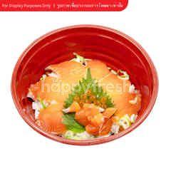 ข้าวหน้าปลาแซลมอนและไข่ปลาแซลมอน