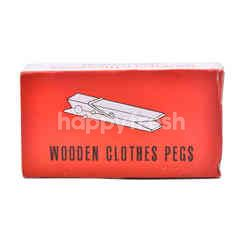 Wooden Clothes Pegs (36 Pieces)