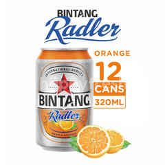 Bintang Radler Orange Canned Beer 12 Packs