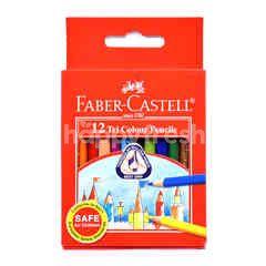 Faber-Castell 12 Tri Colour Pencils