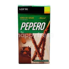 Lotte Pepero Almond & Chocolate Biscuit Sticks
