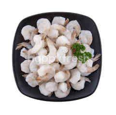 ฟู้ดไดอารี่ กุ้งขาว ปอกเปลือกผ่าหลังไว้หาง 41/50  ตัวต่อปอนด์