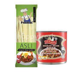 QSR Fat Boi Original Wheat Noodles and Ayamas Oriental Sauce Chicken