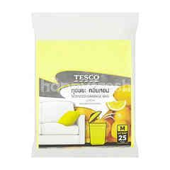 Tesco Lemon Scent Garbage Bags (25 Pieces)