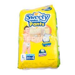 Sweety Bronze Baby Pants Diapers Size L (30 pieces)