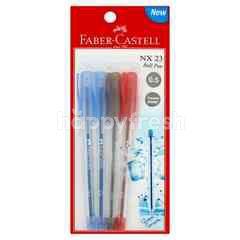 FABER CASTELL Blue Red Black Colour Pen
