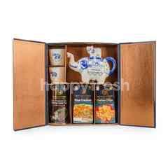 Blue Elephant Jasmine Green Tea Set With Crackers