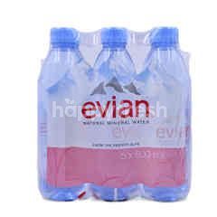 Evian Natural Mineral Waters (6 Bottles)