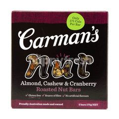 Carman's Nut Almond, Cashew & Cranberry Nut Bar