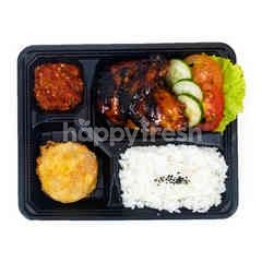 Aeon Grilled Chicken and Potato Fritter Set
