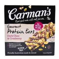 Carman's Dark Choc & Cranberry Gourmet Protein Bars (5 Bars)