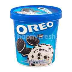 Oreo Cream Flavoured Ice Cream With Oreo Cookie Pieces