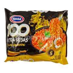 Gaga 100 Extra Spicy Jalapeno Level 5 Instant Noodle