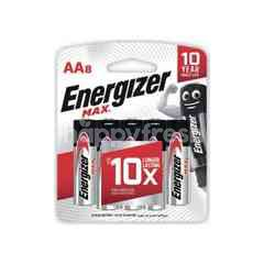 Energizer Max AA Alkaline Battery (8 Pieces)