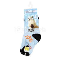 Balmoral England Bernard Bear Printed Socks Type 6-07 Size 9-12 for Shoes Size 21-25