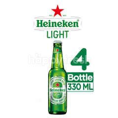 Heineken Light Bottled Lager Beer 4 Pack