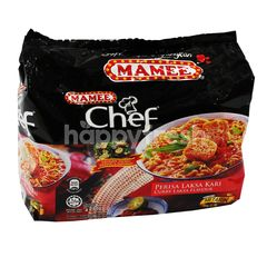 Mamee Chef Curry Laksa Flavour Instant Noodles