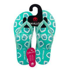 Swallow Globe Brand Tiny Squre Slippers (9.5)