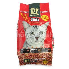 Pet Forest Cat Food Dry Type 3 Mix