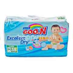 Goo.N Baby Diapers with Tape Size M (38 pieces)