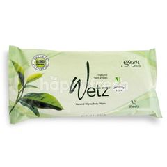 Wetz Green Tea Natural Wet Wipes (30 sheets)