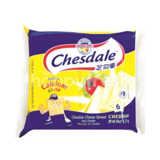 Chesdale Cheddar Cheese Slices Spread (6 Slices)
