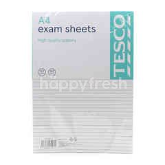Tesco A4 Exam Sheet