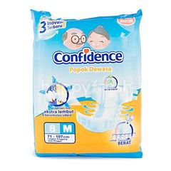 Confidence Anti Bacterial Adult Diapers Size M with Aloe Vera Extract (8 pieces)
