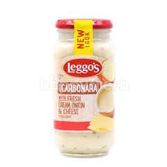 LEGGO'S Carbonara Pasta Sauce With Fresh Cream, Onion & Cheese