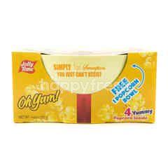 Jolly Time 4 Yummy Popcorn Inside with 1 Popcorn Bowl Free