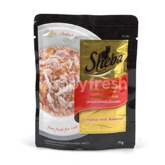 Sheba Tuna & Chicken Flavour With Bonito Flake For Adult