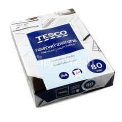 เทสโก้ กระดาษถ่ายเอกสาร A4 80 แกรม 500 แผ่น