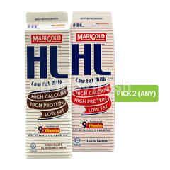 Marigold Hl Low Fat Milk 1L and Hl Chocolate Milk Drink 1L (Pick Any 2)