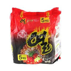 Ottogi Yeual Spicy Instant Ramen Noodle Spicy Beef Flavour (5 Packs)
