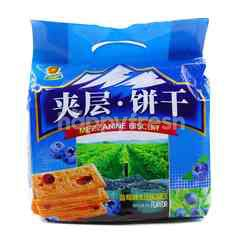 Hang Dee food Mezzanine Blueberries Flavour Sandwich Biscuit
