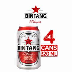 Bintang Pilsener Canned Beer 4 Pack