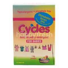 Cycles Mild Laundry Detergent for Babies Powder