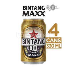 Bintang Maxx 0.0% Canned Carbonated Malt Drink 4 Pack