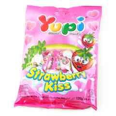 Yupi Strawberry Kiss Soft Candies