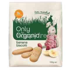 Only Organic Banana Biscotti (100g)
