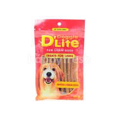 DOGGIE D'LITE Paw Lickin' Good - Chicken & Cheese Sticks