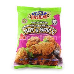 First Pride Fully Cooked Crispy Golden Fried Chicken Hot & Spicy