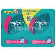 Whisper Wings Regular Pads (40 Pads)