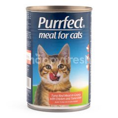 Purrfect Tuna Red Meat in Gravy with Chicken and Tuna Liver