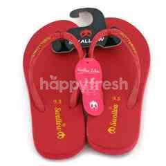 Swallow Globe Brand Sendal Jepit Merah 9.5