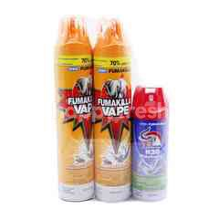 Fumakilla Aerosol Vape Spray With Insecticide Waterbased (3 Pieces)