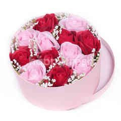 Citra Florist Artificial Flowerbox Circle Pink